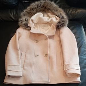Girls wool peacoat